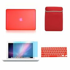 Top Case Macbook Rubberized Hard Case Cover + Sleeve Bag + Keyboard Cover + S..