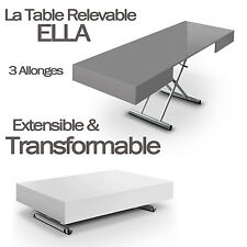 TABLE BASSE RELEVABLE TRANSFORMABLE EXTENSIBLE ELLA NEUF