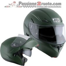 Flip up Helmet Agv Compact St Military green casque moto modular helm