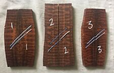 Snakewood bookmatched knife scale / knife handle sets high figure