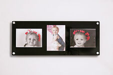 "Acrylic 24x9.5"" magnetic wall picture photo frame for 3x 5x7"" all colours"