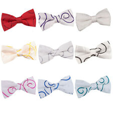 NEW DQT SCROLL MENS PRE-TIED WEDDING BOW TIE