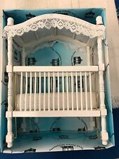 Town Square Miniatures - White Canopy Crib - 1:12 Dollhouse Scale