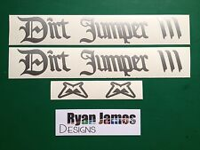 MARZOCCHI BOMBER DIRT JUMPER STICKER / DECAL SET