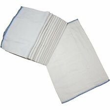 Osocozy - Indian Cotton Prefolds (Dozen) - Soft And Absorbent Baby Diapers Ma..