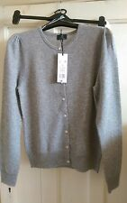 F&F Signature 100% Cashmere Cardigan, size 10, Grey Brand New with Tags RRP £48
