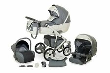 Travel System VANGO ECO LINE 3in1 Kinderwagen Baby Pram Buggy Car Seat Poussette
