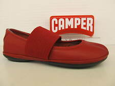 Camper 21595 095 Right Nina Red Leather Elastic Strap Casual Pump Shoe