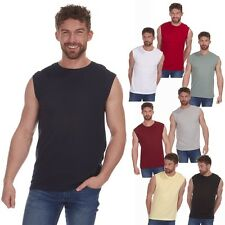 New Mens Sleeveless Vest Gym Muscle Casual Bodybuilding Plain Tank Top Fitness
