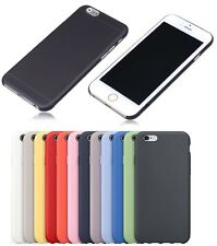 "APPLE iPhone 6G 4.7"" & 6 Plus 5.5"" BUMPER GEL PC FROSTED BACK CASE COVER"