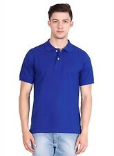 Basil Men's Polo T-Shirt Royal Blue