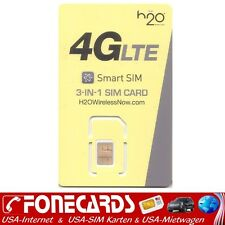 H2O Wireless USA 4G LTE Prepaid 3in1 - Triple SIM Karten AT&T Netz
