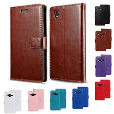 Flip PU Leather Wallet Case Simili Cuir Housse Etui Coque Portefeuille