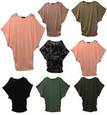 Oversized Womens Ladies Short Sleeve Loose Blouse Baggy Tops Batwing T-Shirts