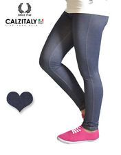 Leggings Bambina Jeans, Jeggings Effetto Denim, Treggings Bimba, Made in Italy