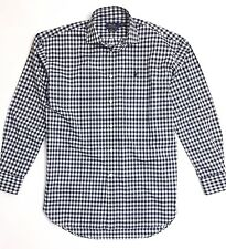 Polo Ralph Lauren Women's Shirt Boyfriend Fit Poplin Navy Blue Gingham Checks