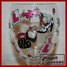 Personalised Hen Party Wine or Shot Glass hand painted to order. FREE P&P