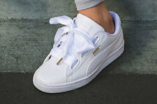 PUMA BASKET HEART WHITE PATENT ALL SIZES 3, 4, 5, 6, 7, 8 BRAND NEW IN BOX