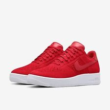 New !  Mens Nike AF1 Ultra Flyknit Low PRM 826577-600 Gym Red/White Sizes 8-11