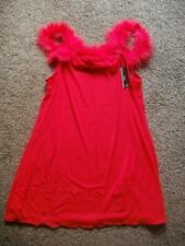Sexy Sheer Red Chemise with Marabou Feathers Size M & L by Penta Lingerie   BNWT