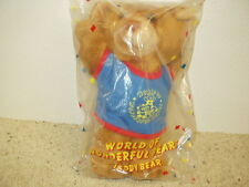 NIP AVON World of Wonderful Bears Teddy Bear Dated 1989