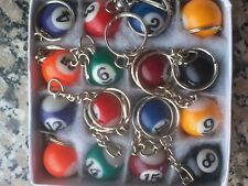 Pool ball keychain Snooker Table Ball Key Ring