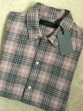 """ALL SAINTS DUSTY PINK """"WESTCHASE"""" SHORT SLEEVE SHIRT TOP - XS - BRAND NEW TAGS"""