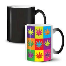 Weed Cannabis Leaf Rasta NEW Colour Changing Tea Coffee Mug 11 oz | Wellcoda