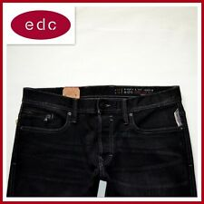 WOW! NEU EDC ESPRIT HERREN EAGLE STRAIGHT FIT DENIM JEANS HOSE W33L36 SCHWARZ