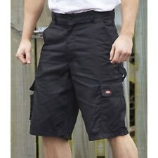 Men's Lee Cooper Black Cargo Shorts Casual Work Pants Cargo-pockets Waist 30-42