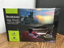 NEW SEALED BROOKSTONE Big Shot Ultra Short Throw Smart Projector 318490