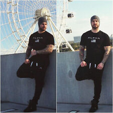 Mens Alphalete Fitness Muscle Gym t shirt Bodybuilding Tshirt Slim Stretchy Tee