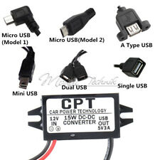 DC 12V Step down to 9/5/6V 3A 15W Mini/Micro/Double USB Power Adapter Converter