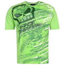 MENS NO FEAR GREEN MOTOCROSS MX DIRT BIKE SKULL LOGO TEE SHIRT T-SHIRT TOP