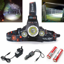 12000LM T6 3 x CREE XM-L LED PROIETTORE TESTA TORCIA RICARICABILE OUTDOOR