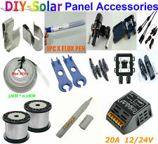 Solar Panel Accessories DIY Tabbing Wire Bus Wire MC4 Connector Charge Controler