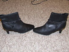 marks & spencer ladies boots footglove wider fit size 6 black leather