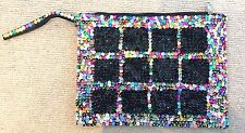 BEAUTIFUL HAND STITCHED SEQUIN MAKE UP BAG HAND MADE IN MARRAKECH