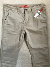 "SUPERDRY DESERT BEIGE ""ROOKIE GRIP CHINO"" CHINOS PANTS TROUSERS - L - NEW & TAGS"