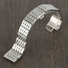 20/22/24mm Solid Stainless Steel Watch Band Wristwatch Replacement 2 Spring Bars