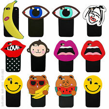 3D Lips Animal Emoji Cute Silicone Rubber Case Cover For iPhone 5 5c 6 Plus SE