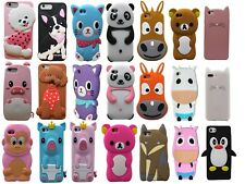 Cartoon Animal 3D Silicone Soft Rubber Case Cover Tpu For iPhone 4 5 6 SE 7 Plus