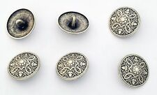 6 bottoni in metallo a punta - GRECA DECORATA - meander decoration buttons