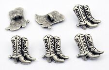 6 bottoni in metallo serie far west - STIVALI COWBOY - cowboy boots buttons