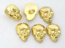 6 bottoni in metallo - TESCHIO - skull buttons