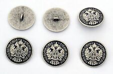 6 bottoni in metallo - AQUILE - eagles buttons