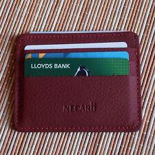 Real Leather Slim Wallet ID Credit Card Holder Case Purse ID Holder