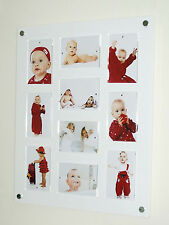 """large acrylic perspex magnetic wall multi picture photo frame  10x 6x4"""" or 7x5"""""""