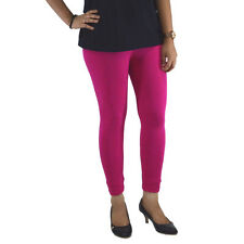 DARK PINK COTTON LYCRA ANKLE LENGTH LEGGINGS