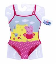 Peppa Pig Girls Swimming Costume Swimsuit Swimwear 1 2 3 4 5 6 Years